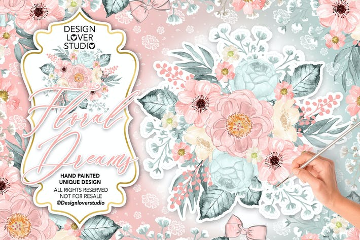 Thumbnail for Floral Dreams Blush design