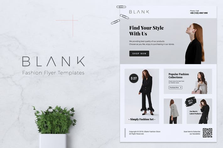 Thumbnail for BLANK / Minimal Fashion Flyer