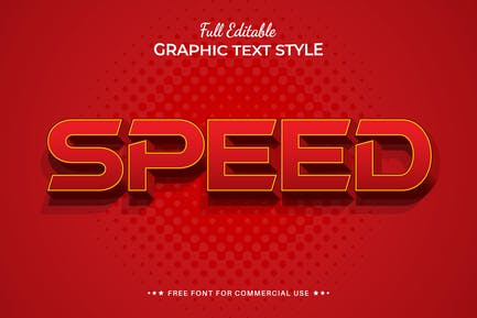 Speed Editable Text Effect, Font Style