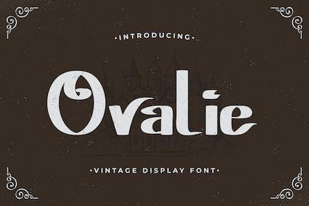 Ovalie – Vintage Display Font