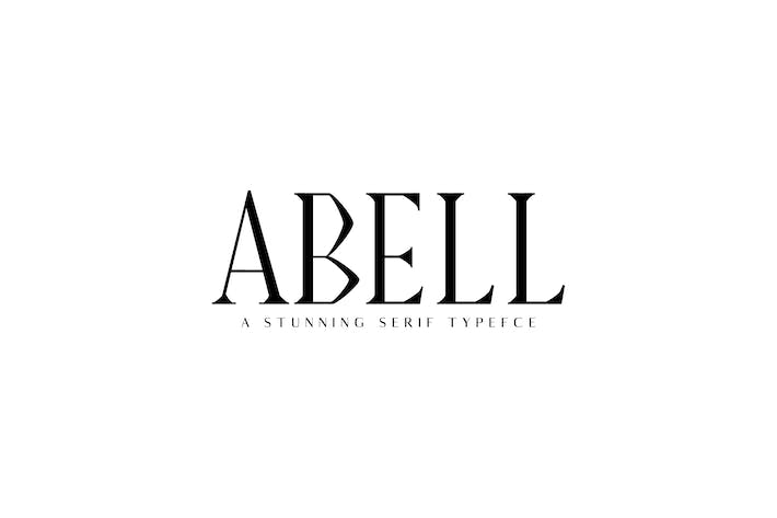 Thumbnail for Abell Con serifa Font Family Pack Folio Negro