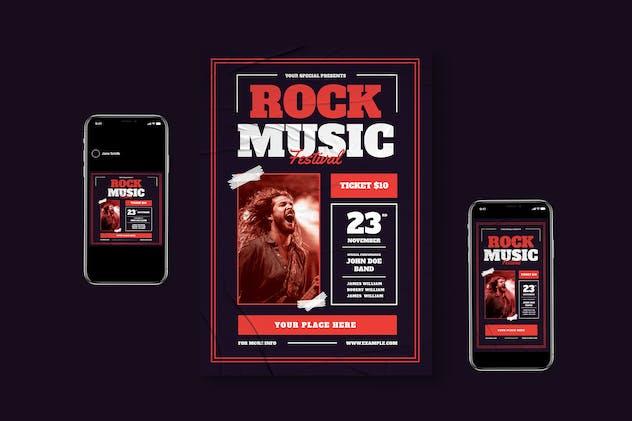 Rock Music Flyer Pack