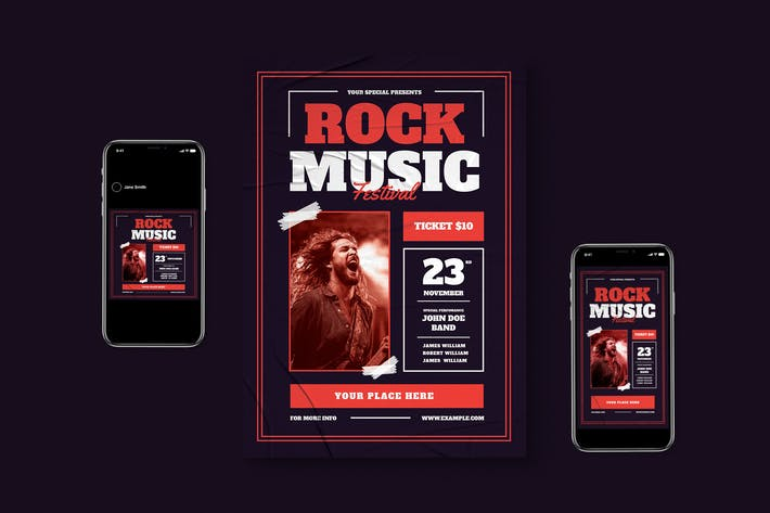 Thumbnail for Rock Music Flyer Pack