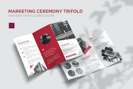 Cérémonie de marketing - Brochure triple