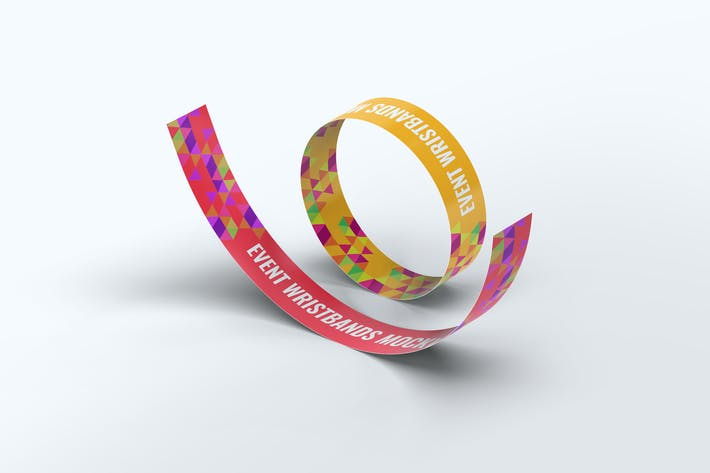 Thumbnail for Event Wristbands Mock-Up