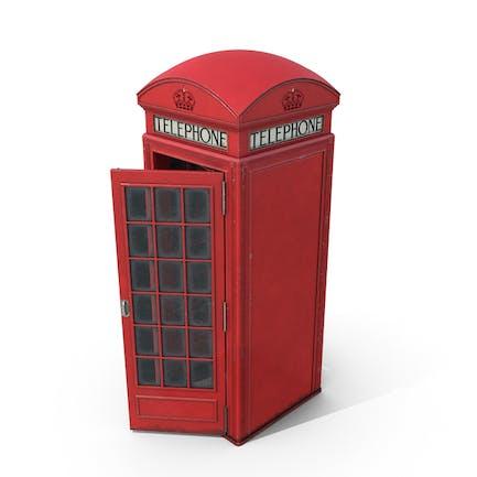 Britische rote Telefonzelle