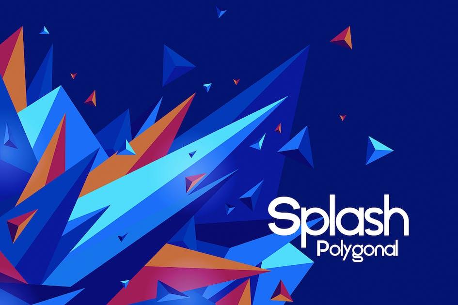 Download Polygonal Splash Backgrounds by themefire
