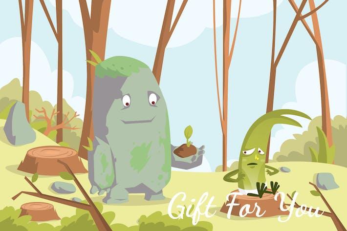 Thumbnail for Gift For You - Illustration