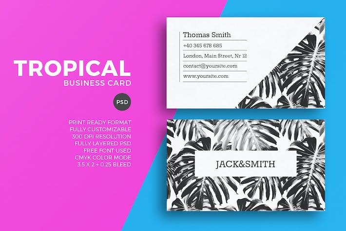 Thumbnail for Plantilla minimalista de Negocios de visita tropical
