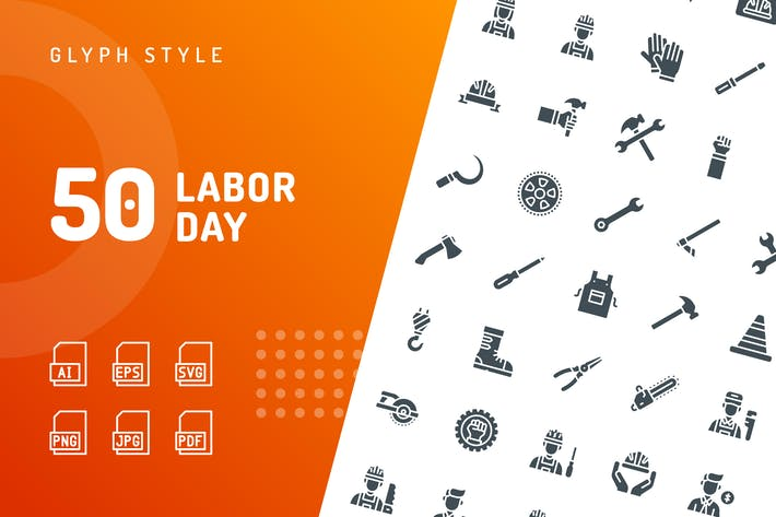 Thumbnail for Labor Day Glyph Icons