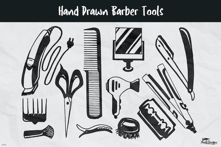Thumbnail for Hand Drawn Barber Tools
