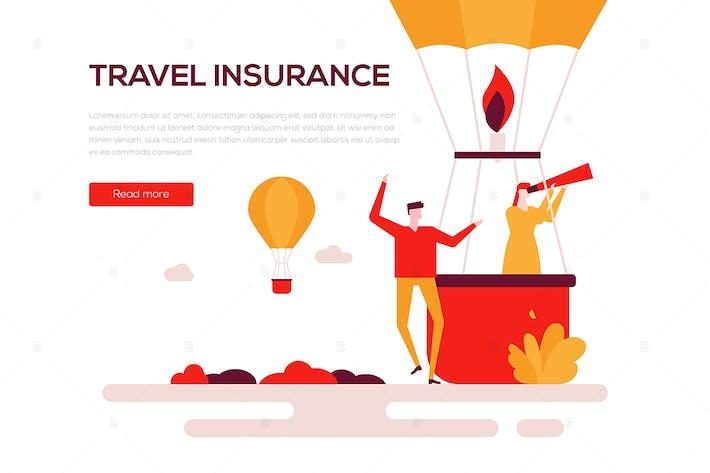 Thumbnail for Travel insurance - flat design style web banner