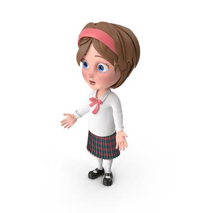 Cartoon Mädchen betäubt