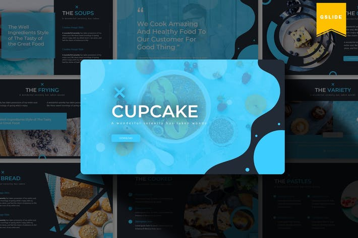 Cover Image For Cupcake | Google Slides Template