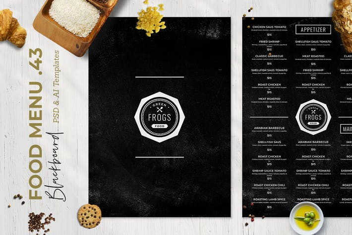 Thumbnail for Blackboard Food Menu. 43