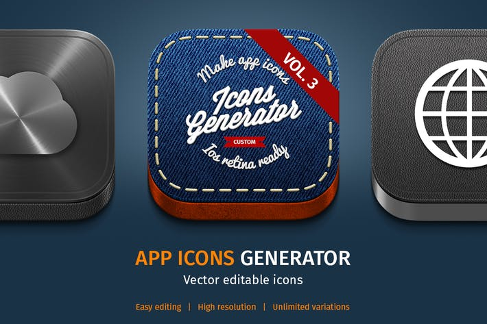 Thumbnail for App Icons Generator vol. 3