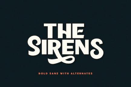 Sirènes - Bold Sans
