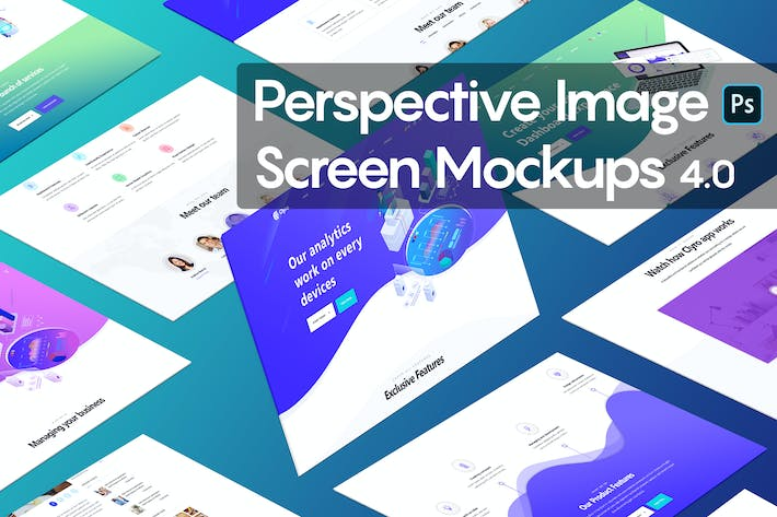 Thumbnail for Perspective Image Screen Mockups 4.0