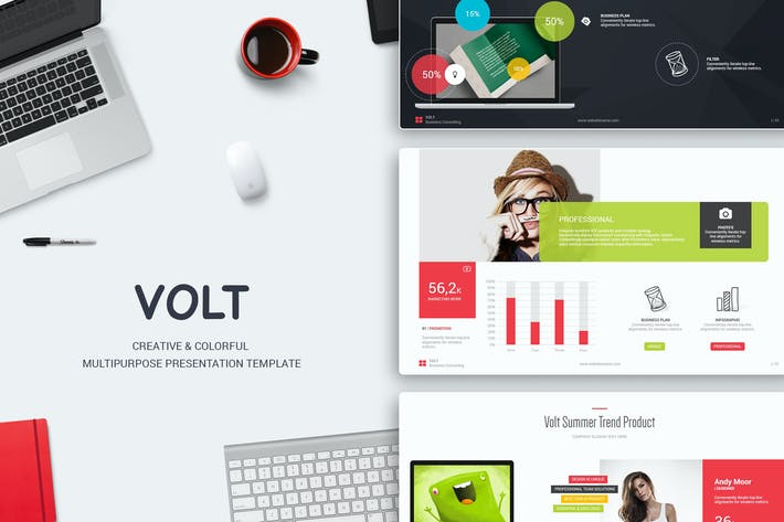 Thumbnail for Volt Multipurpose Template