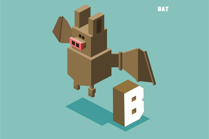 Cover Image For B for bat, Animal Alphabet