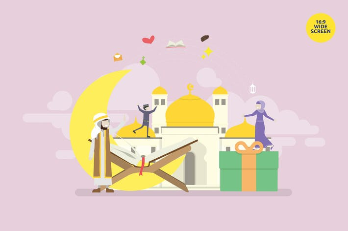 Thumbnail for Ramadan Mubarak Vector Illustration Concept