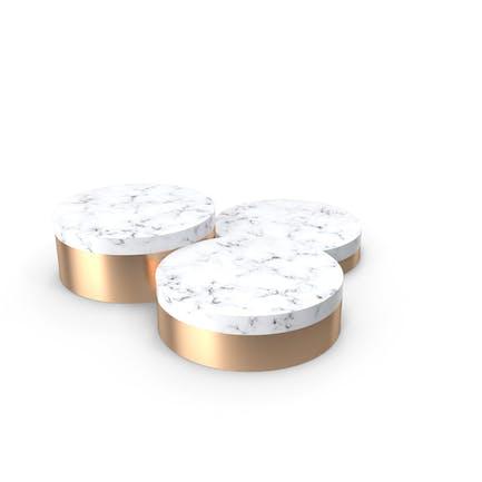 Marble and Gold Product Podium Showcase