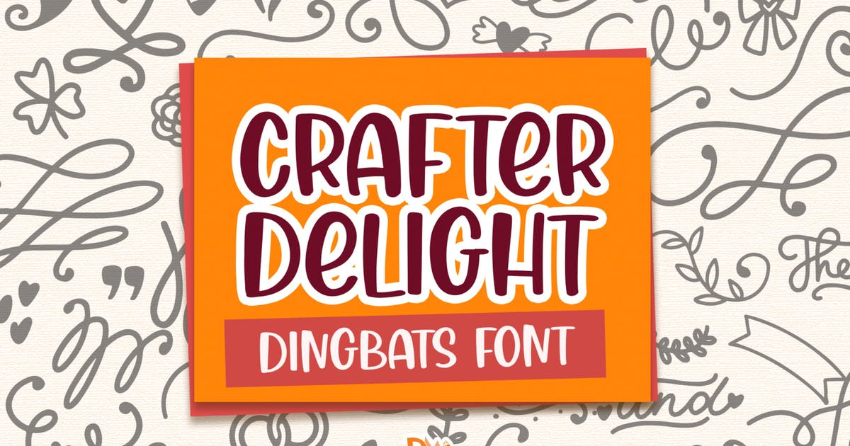 Download Crafter Delight Dingbats Font by DmLetter