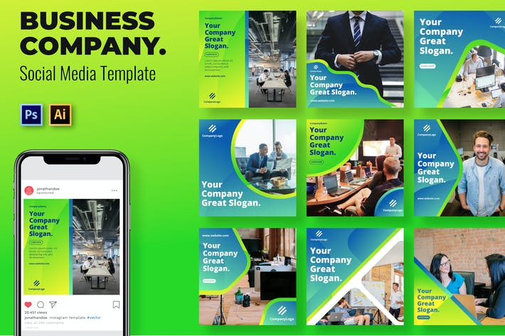 Thumbnail for Company Social Media Template