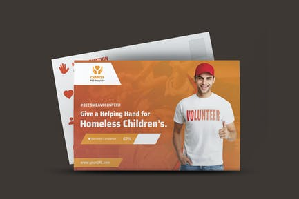 NGO, Charity,Fundraising Post Card