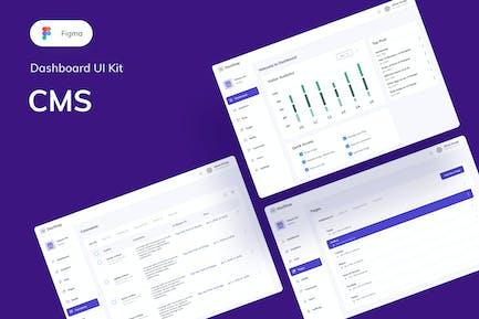 Kit d'interface utilisateur CMS Tableau de bord