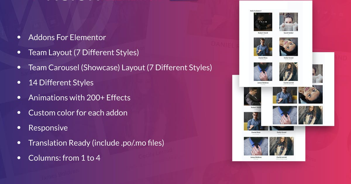 Download Teamvision for Elementor WordPress Plugin by ad-theme