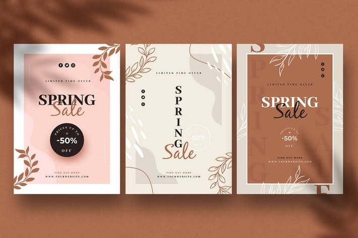 Thumbnail for Abstract Spring Sale Flyers