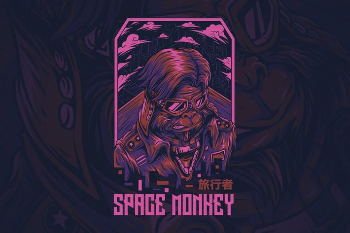 Cover Image For Space Monkey Ver 2
