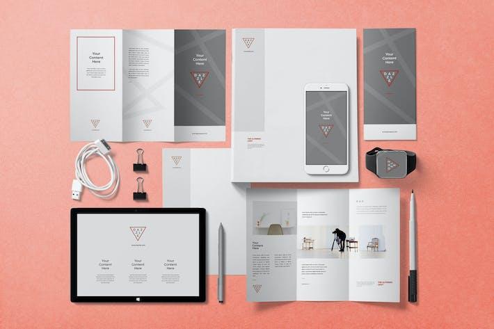 Threefold Brochure Mockups
