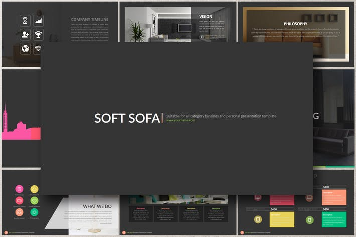 Thumbnail for SOFT SOFA Google Slides