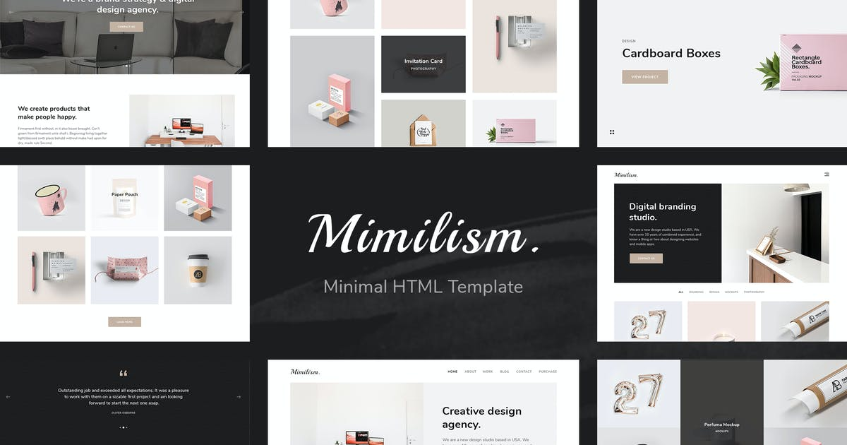 Download Mimilism — Clean & Minimal Portfolio HTML Template by unvab