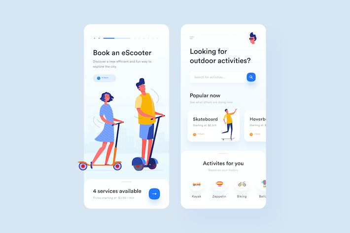 Thumbnail for Outdoorzy App UI Concept
