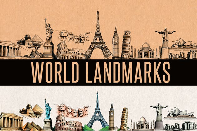 World Landmark / Monuments Elements