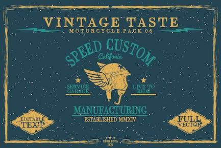 Vintage Taste Motorcycle (EDITABLE)