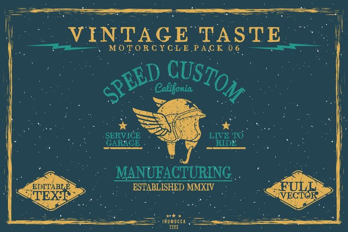 Vintage Taste Motorcycle (EDITABLE)