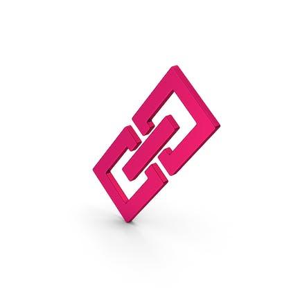 Symbol Link/Kette Metallic