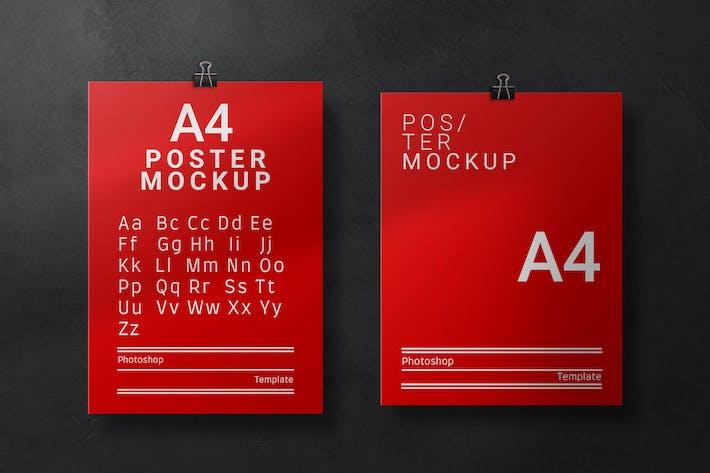 A4 & Letter Poster Mockup