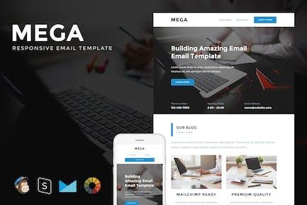 Mega - Responsive E-Mail + StamPready Builder