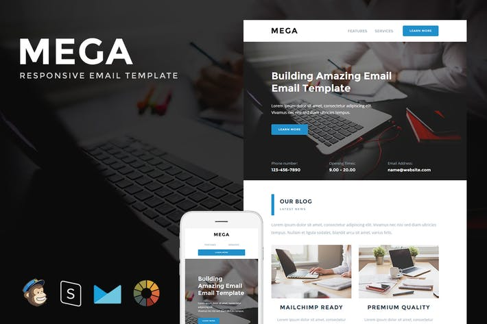 Thumbnail for Mega - Responsive Email + StampReady Builder