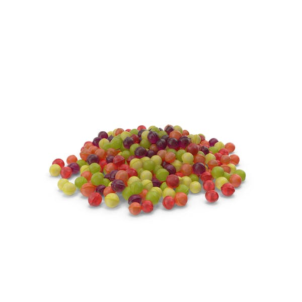 Pile of Spherical Hard Candy