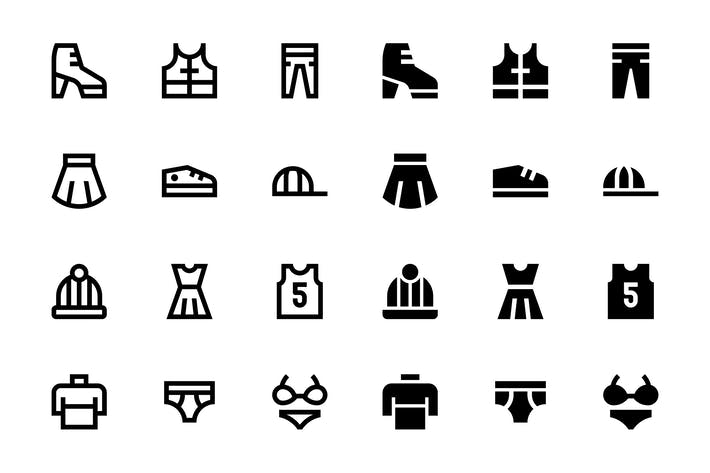 Thumbnail for 66 Clothes and Shoes icons