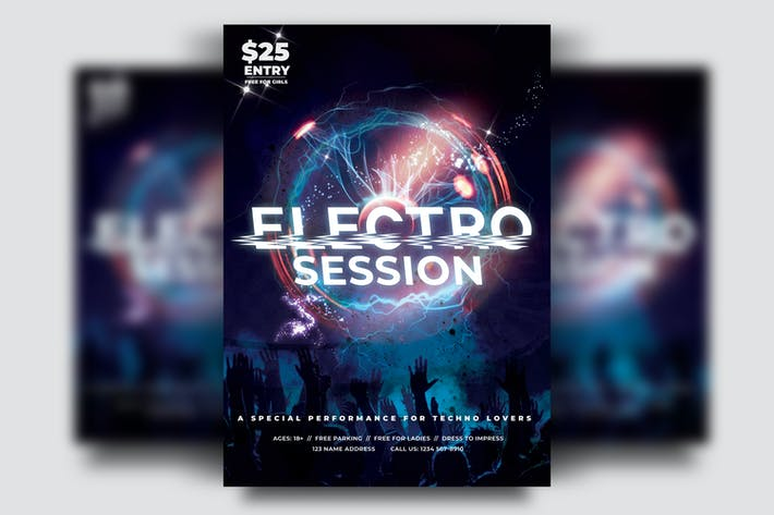 Thumbnail for Electro Party Flyer Template