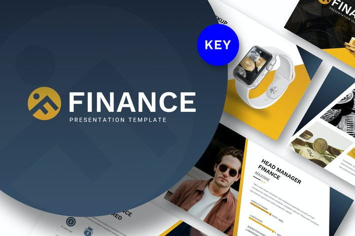 Шаблон Keynote по финансам