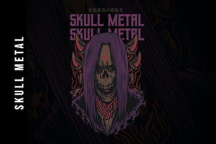 Skull Metal Design