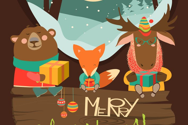 Thumbnail for Cute animals with gifts